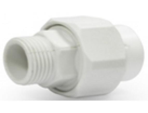 Муфта пластиковая разъемная (наружный разъём) белая